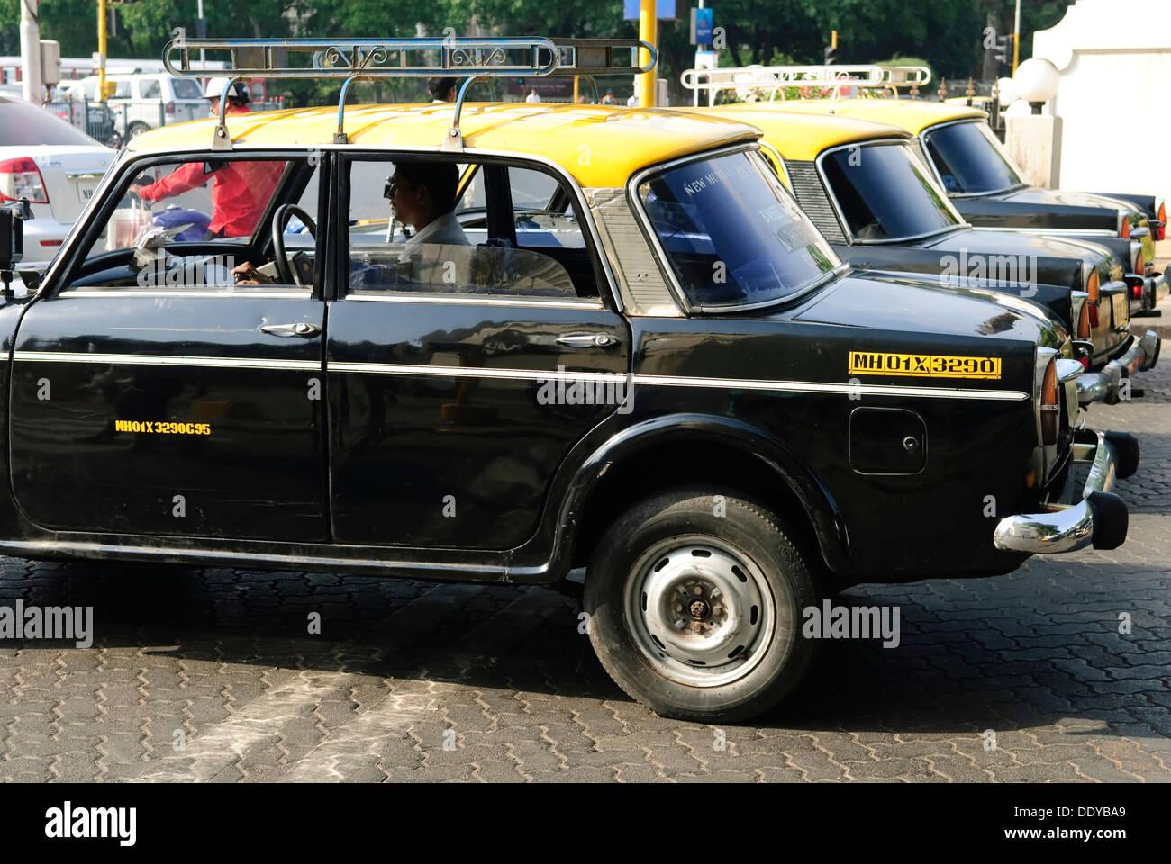 Taxicabs, Mumbai, India, Asia - Stock Image