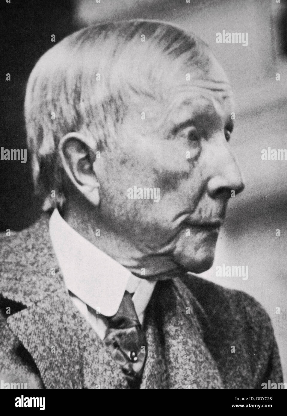 John D Rockefeller, American tycoon and philanthropist, in his later years, 20th century. Artist: Unknown - Stock Image
