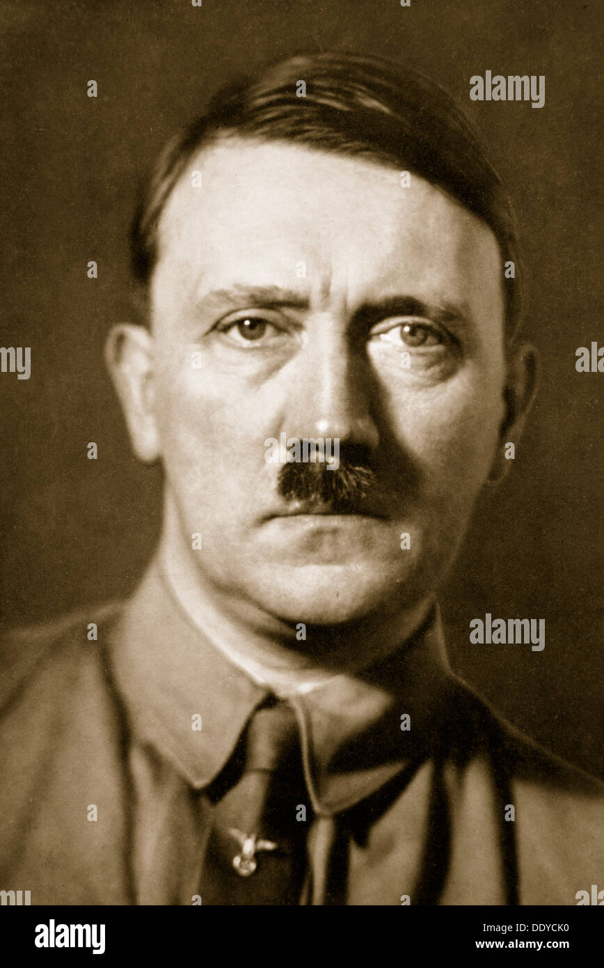 Adolf Hitler,leader of Nazi Germany,1936.Artist: Unknown - Stock Image