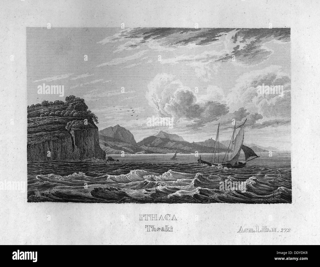 Ithaca, Greece, c1833. The island that was the home of Odysseus, according to Homer's Odyssey. - Stock Image