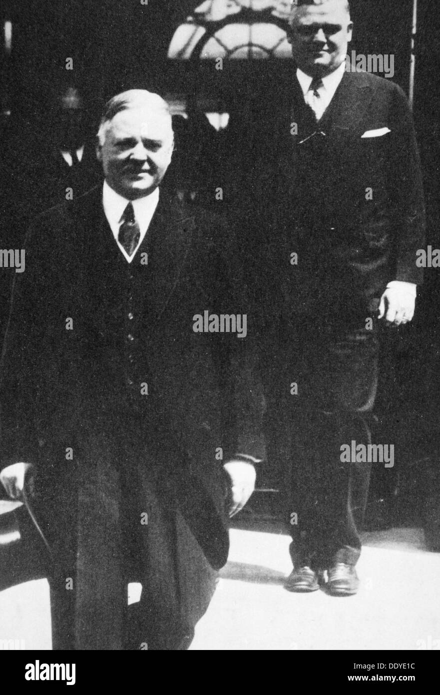 Herbert Hoover, 31st President of the United States, 1930s. Artist: Unknown Stock Photo