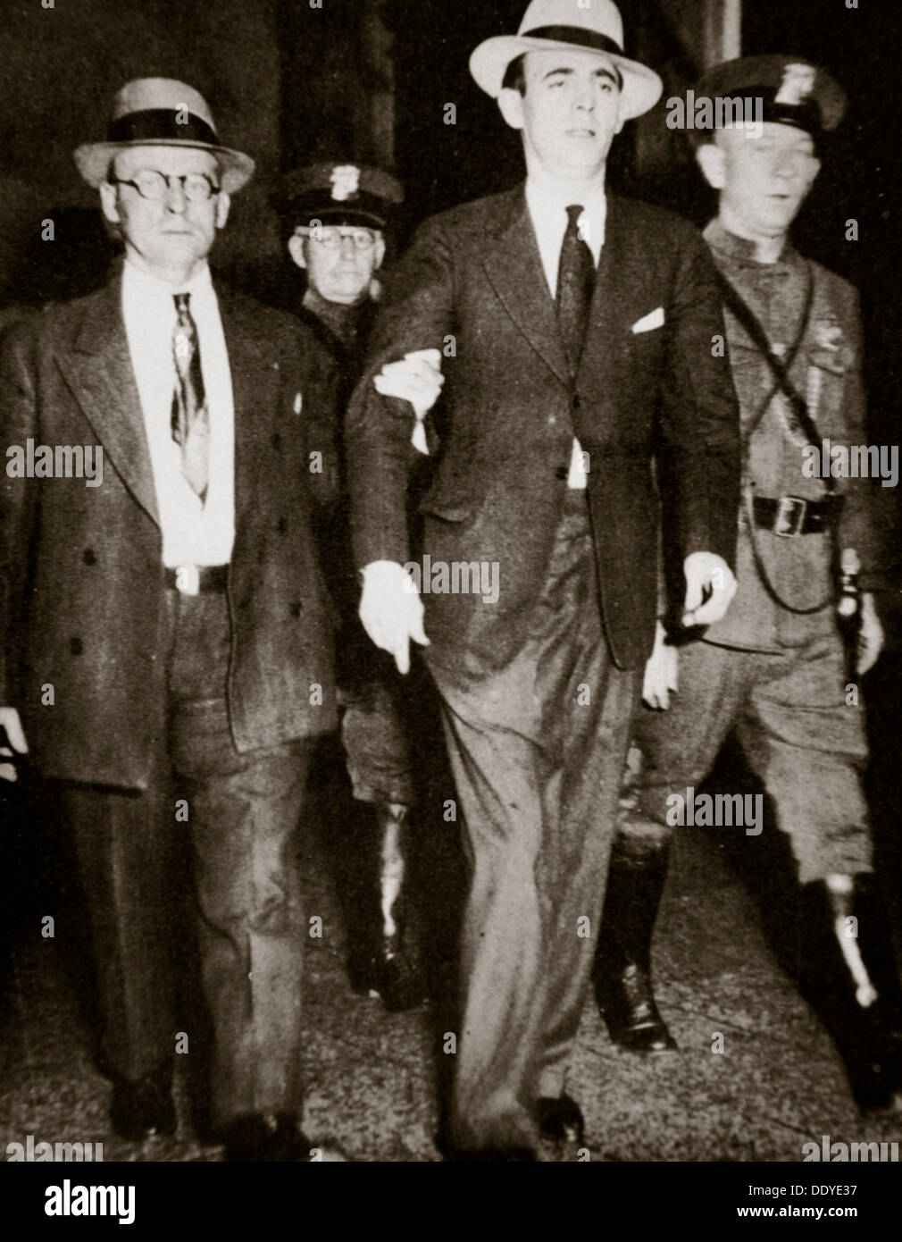 Jack 'Legs' Diamond, temporarily in the hands of the law in Troy, New York, USA, July 1931 Artist: Unknown - Stock Image