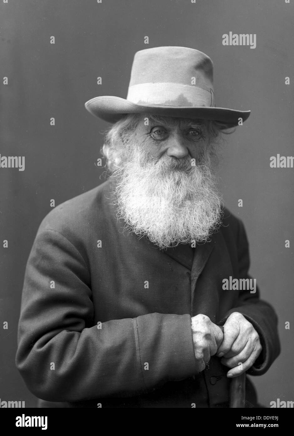 A bearded old man wearing a hat, Landskrona, Sweden, 1910. From Landskrona Museum Collection. - Stock Image