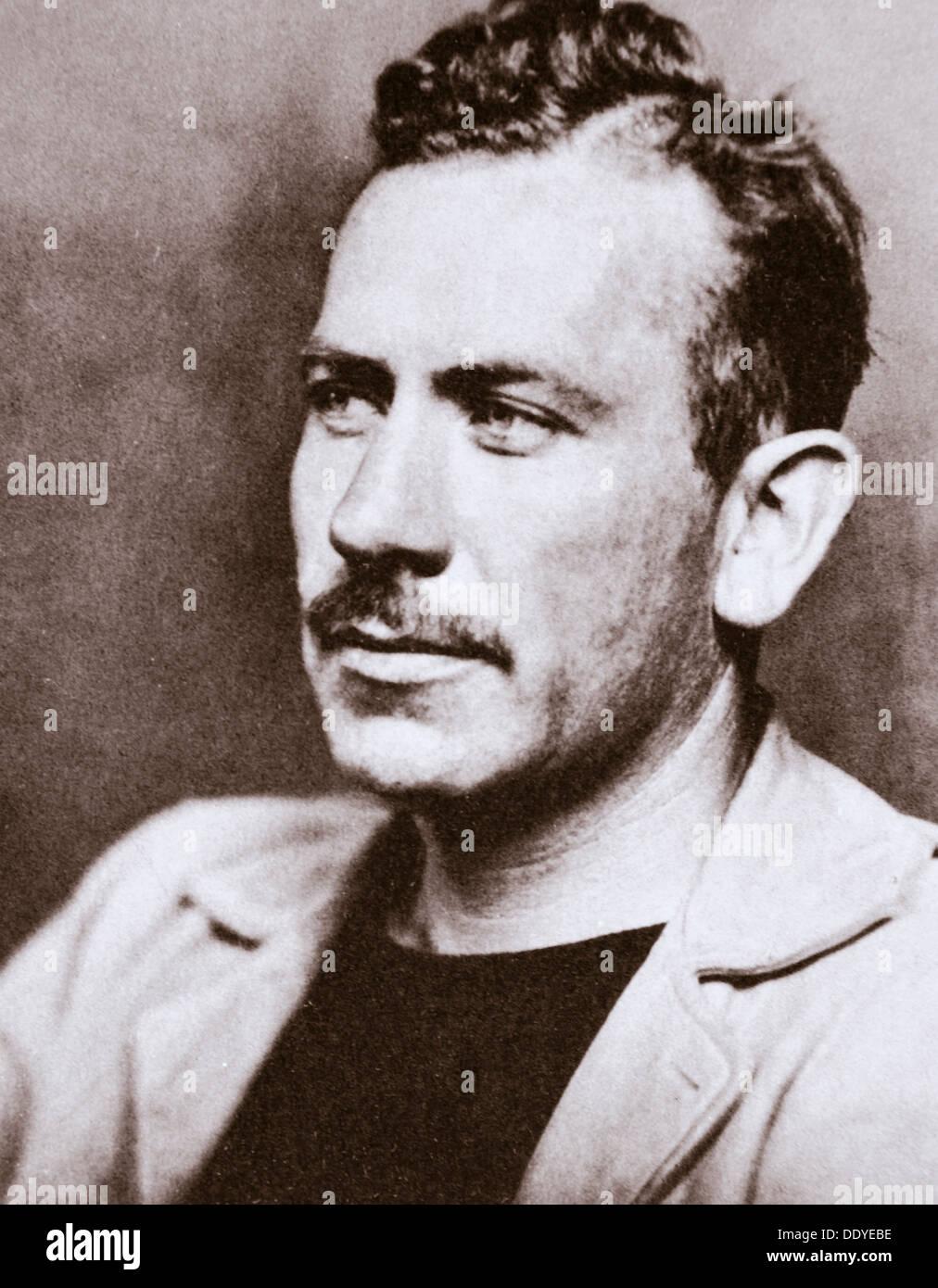 John Steinbeck, American novelist, c1939. Artist: Unknown - Stock Image