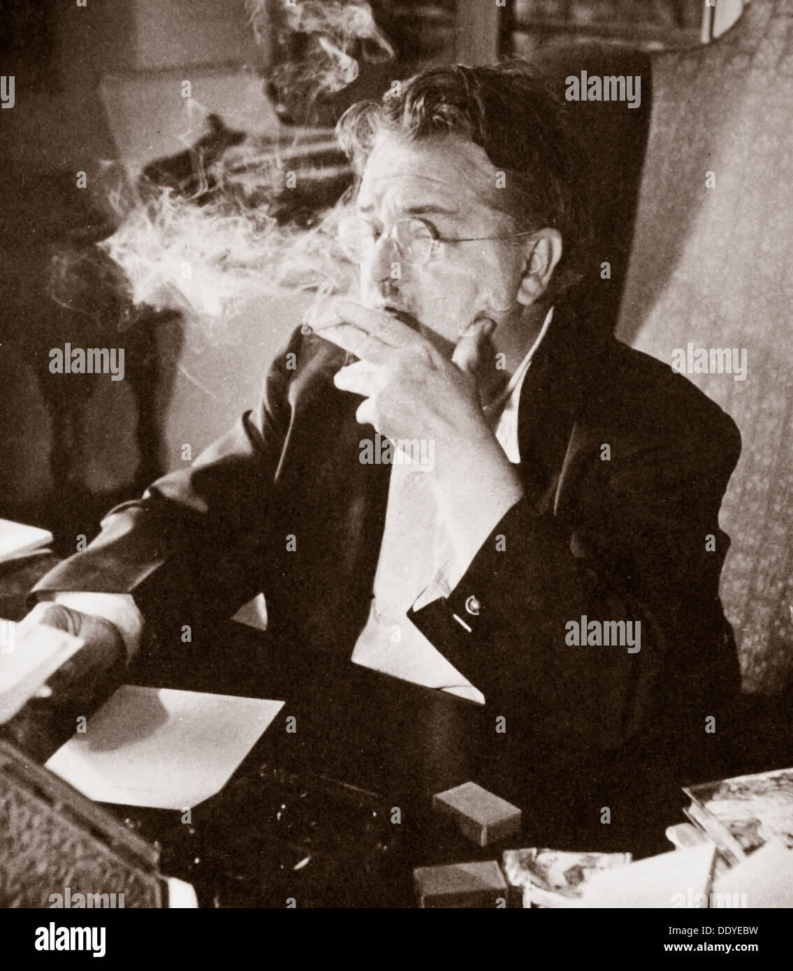 Alexander Woollcott, American critic, raconteur, and radio presenter, early 1930s. Artist: Unknown - Stock Image