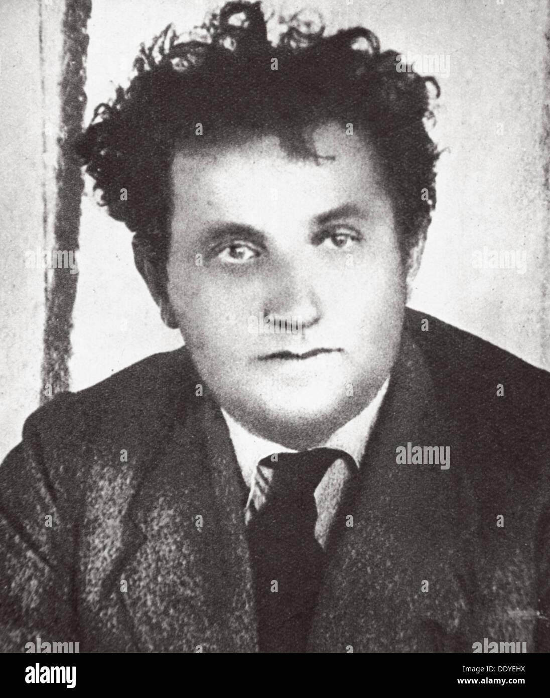 Grigory  Zinoviev, Russian Bolshevik revolutionary and Soviet politician, 1924 Artist: Unknown - Stock Image