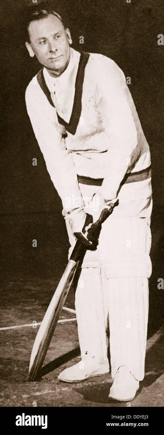 Jack Hobbs, English cricketer, 1925. Artist: Unknown - Stock Image