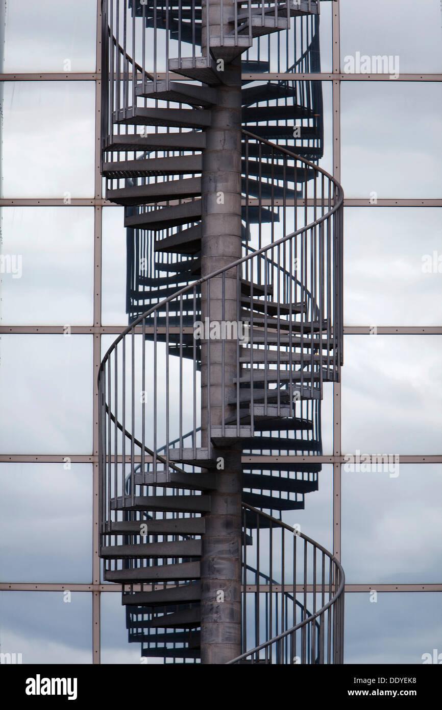 Superbe Spiral Staircase, Exterior Stairs, Perlan Water Storage Tanks, Reykjavik,  Iceland, Europe