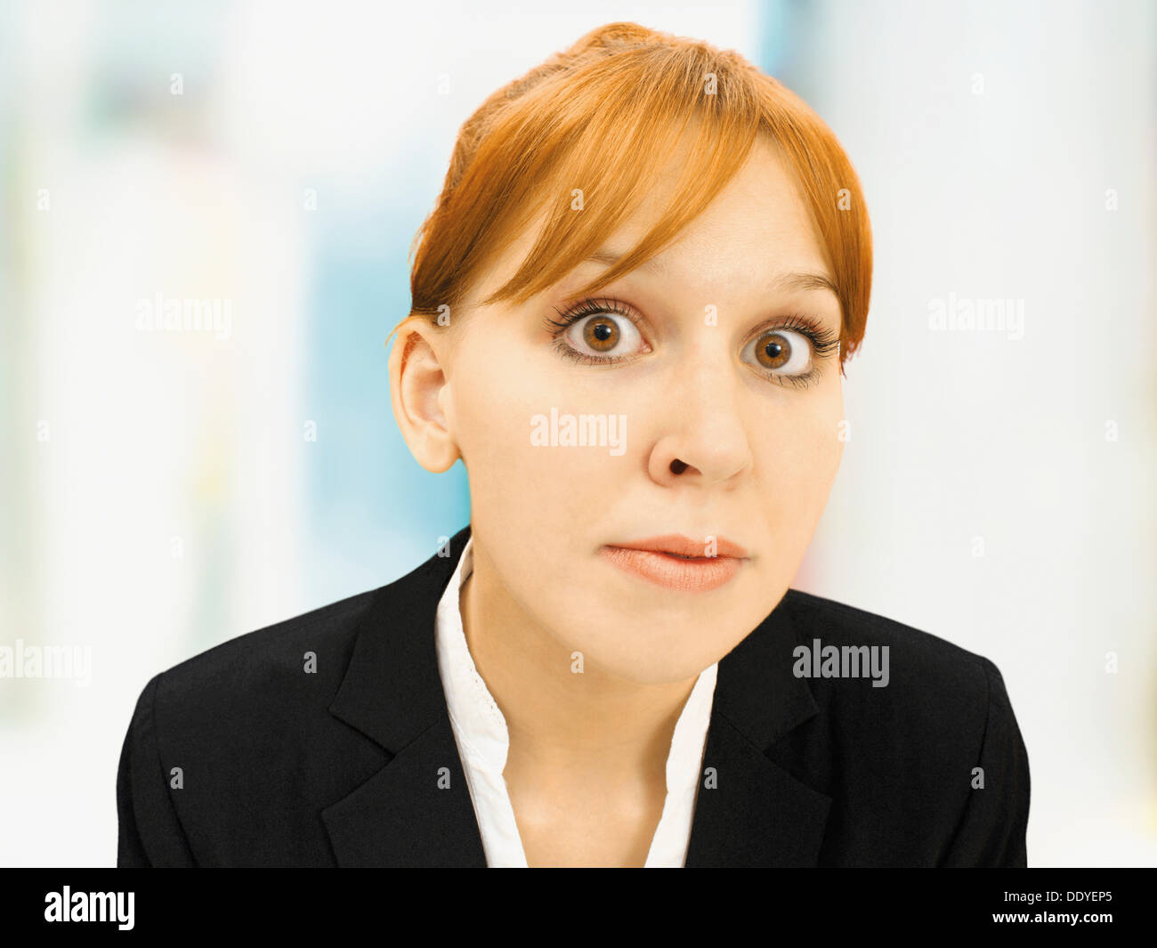 Portrait of a serious businesswoman - Stock Image