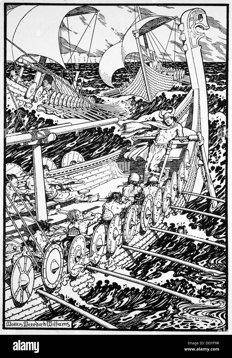 'The Coming of the Northmen', 1913.   Artist: Morris Meredith Williams - Stock Image