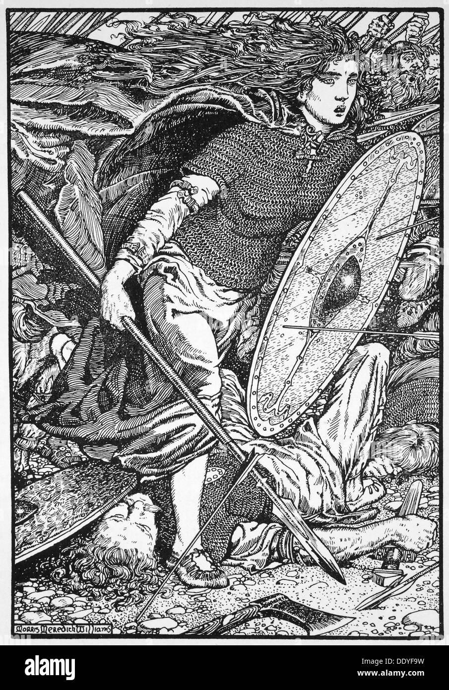 Lathgertha, 1913.  Artist: Morris Meredith Williams - Stock Image