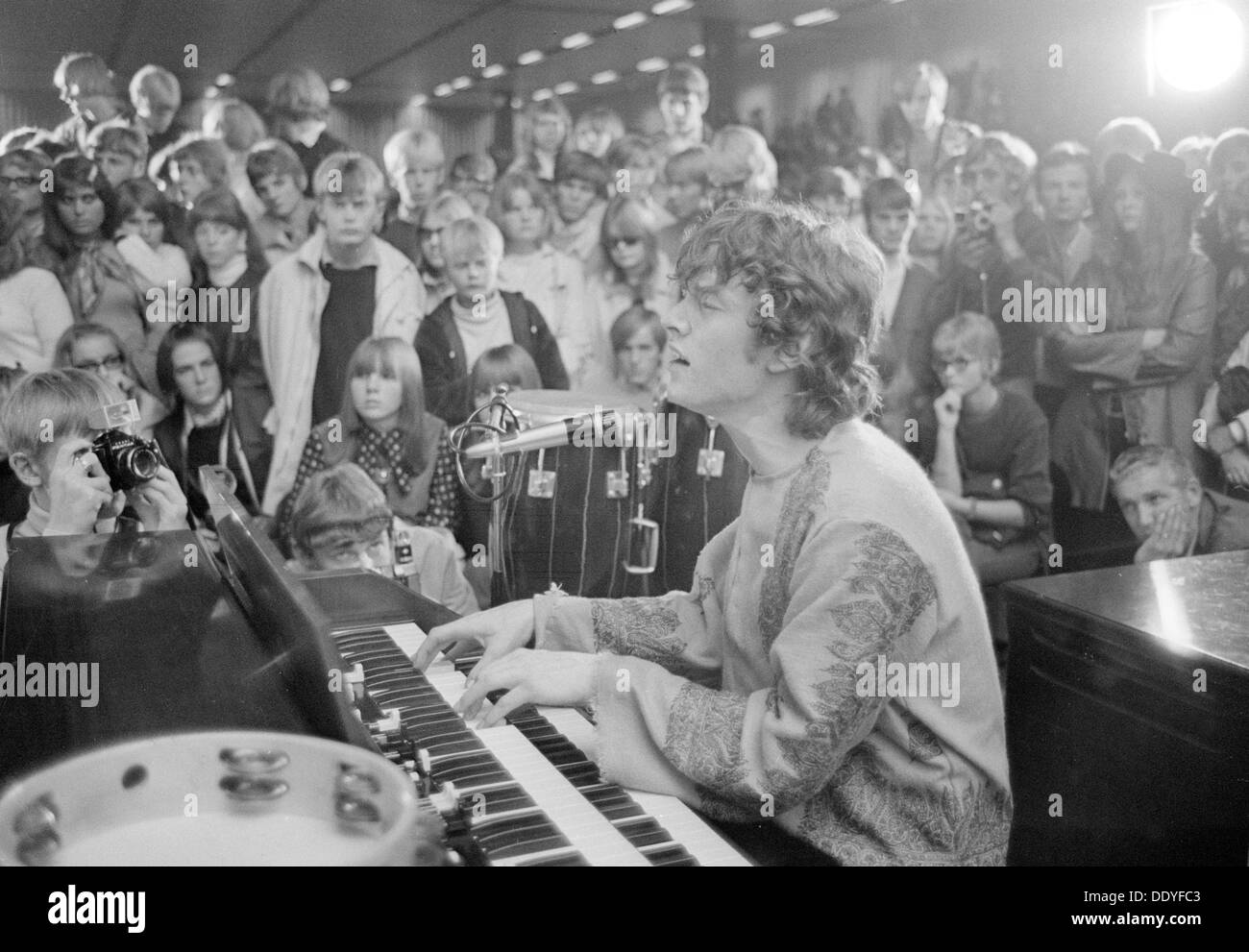 Steve Winwood, lead singer with Traffic, in concert at Landskrona, Sweden, 1967. From the Landskrona Museum Collection. - Stock Image