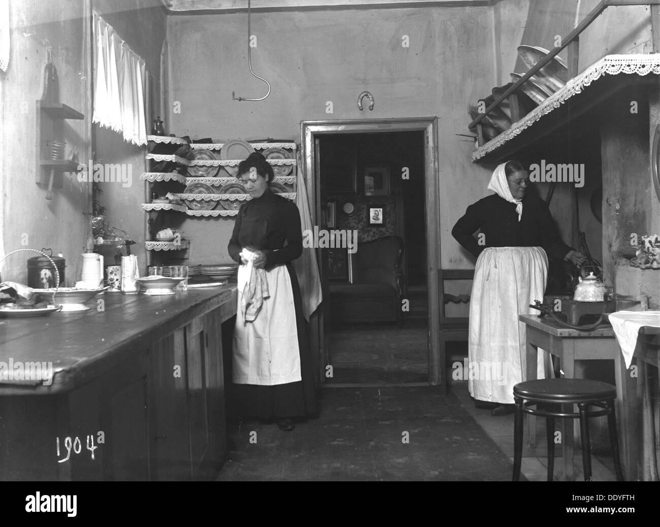 Kitchen Malmo Sweden 1904 Artist Unknown Stock Photo Alamy
