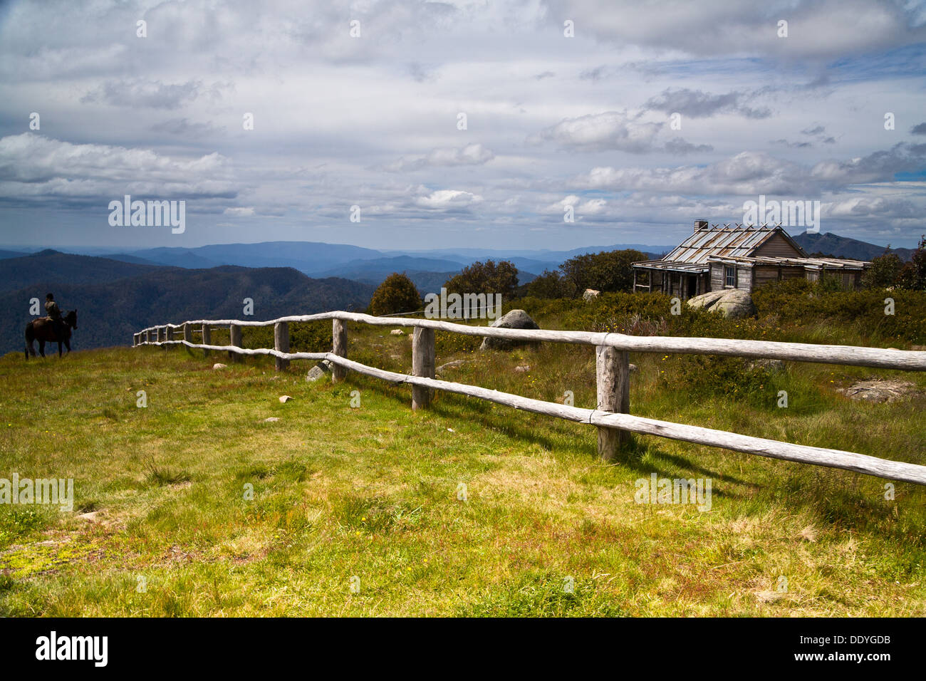 Craig's Hut from the set of 'Man from Snowy River' in Victoria's High Country, Australia - Stock Image