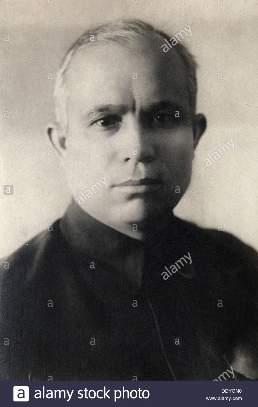 Nikita Khrushchev, Soviet politician, 1936. Artist: Pyotr Otsup - Stock Image