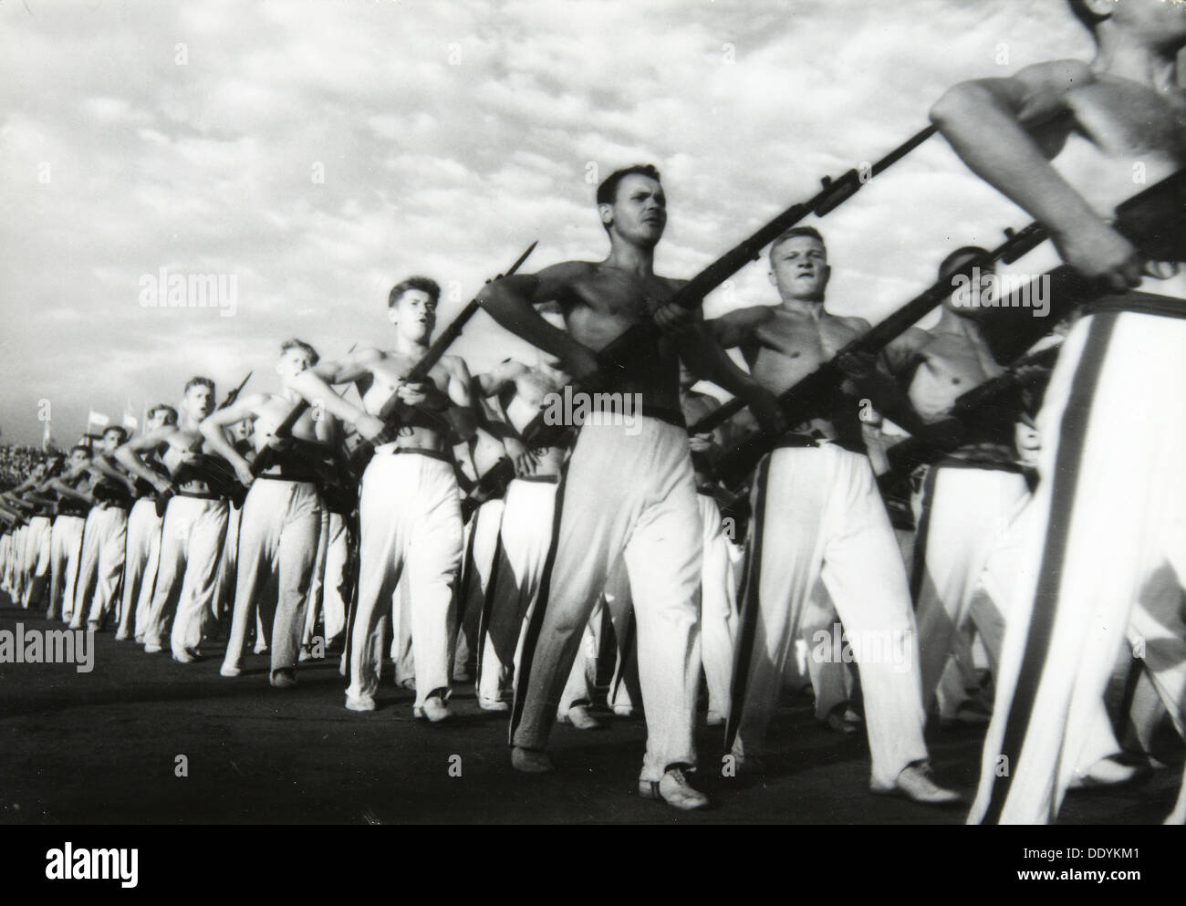 Parade of the Young Communists, Moscow, USSR, 1930s. - Stock Image
