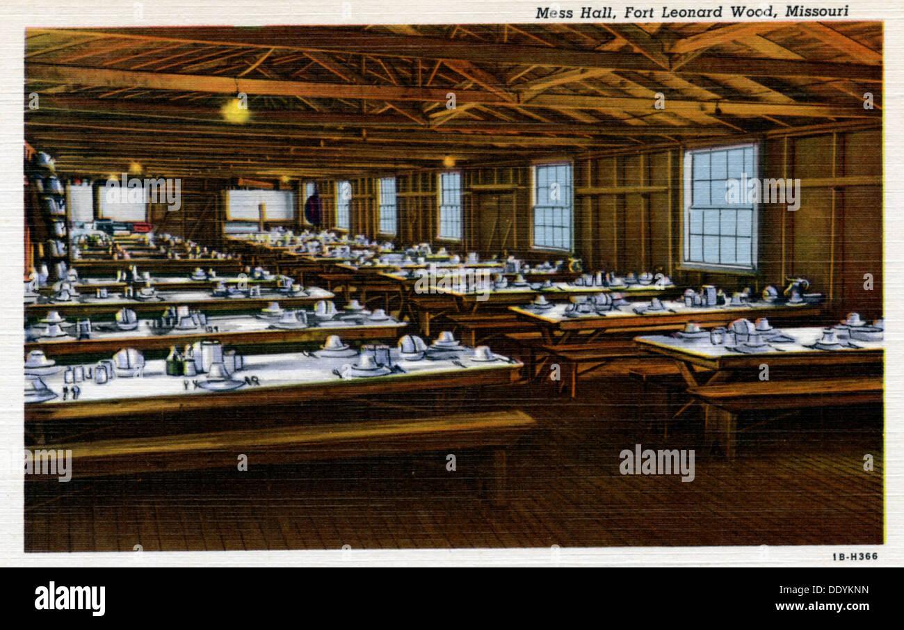 Mess Hall, Fort Leonard Wood, Missouri, USA, 1941. - Stock Image
