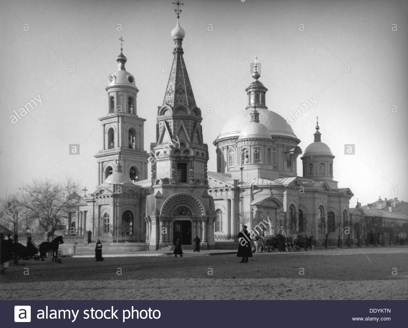 The Church of St Basil of Caesarea, Moscow, Russia, c1900-c1905. - Stock Image