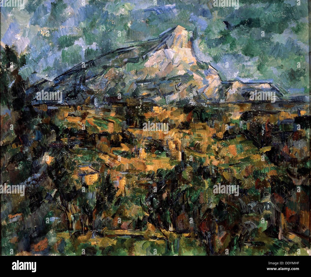 'Landscape in Aix (Mont Sainte-Victoire)', c1906.  Artist: Paul Cezanne - Stock Image