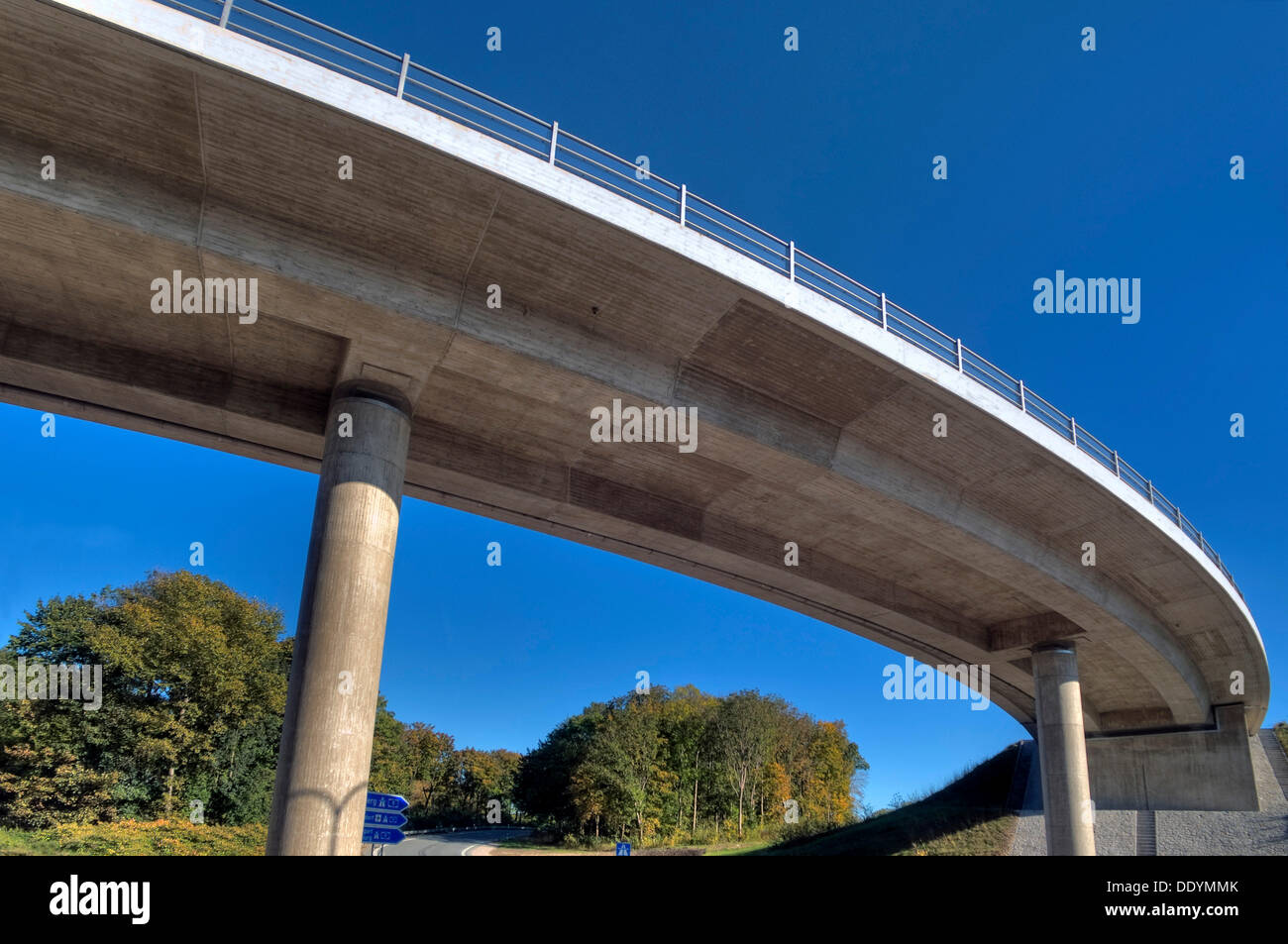 Motorway bridge Munich-North, A9, newly completed after renovation, Munich, Bavaria Stock Photo