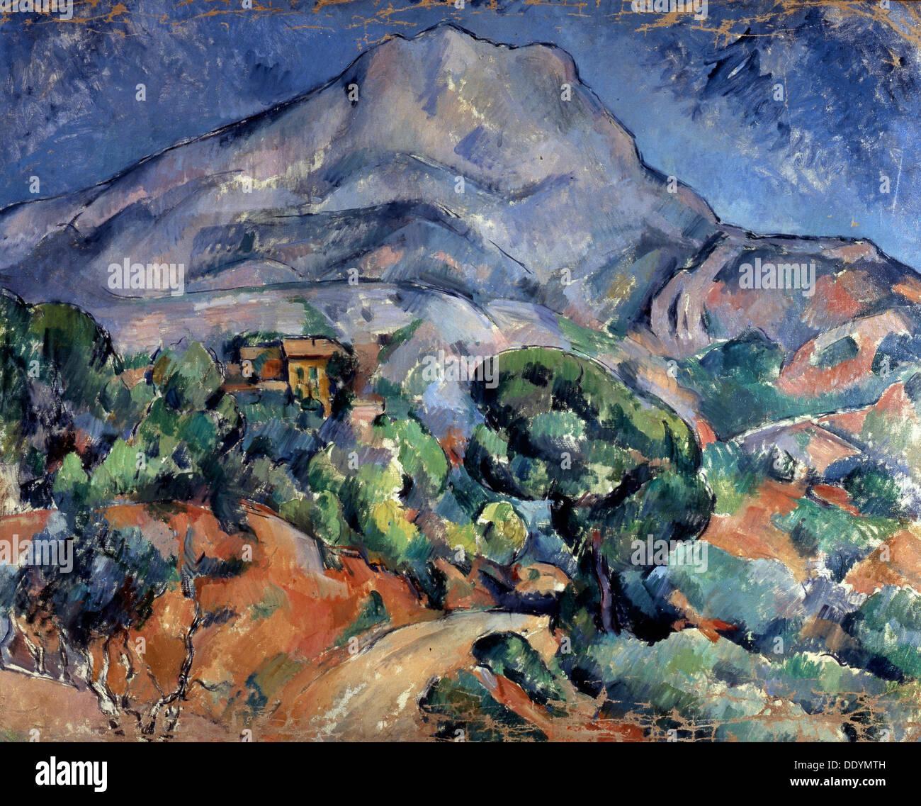 'Mont Sainte-Victoire', 1896-1898. Artist: Paul Cezanne - Stock Image