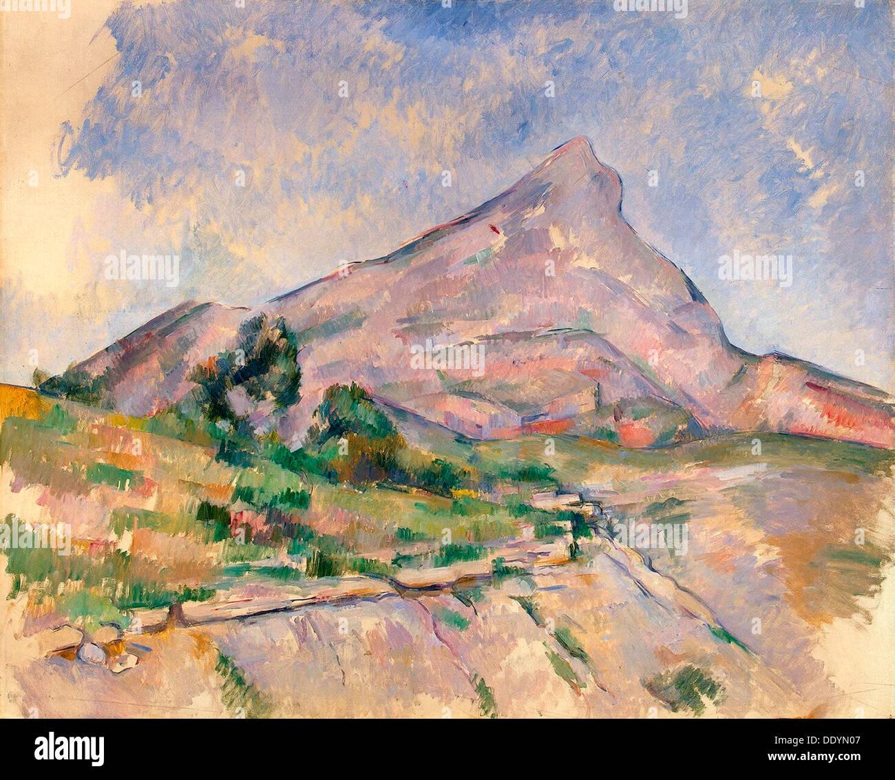 'Mont Sainte-Victoire', 1897-1898.  Artist: Paul Cezanne - Stock Image