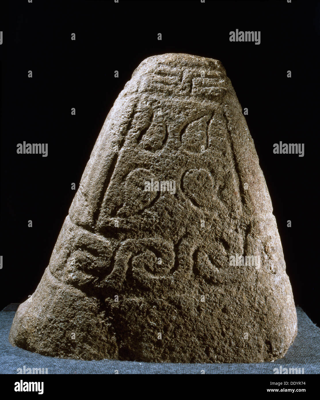 The Kermaria Stone, Celtic, 4th century BC. Artist: Werner Forman - Stock Image