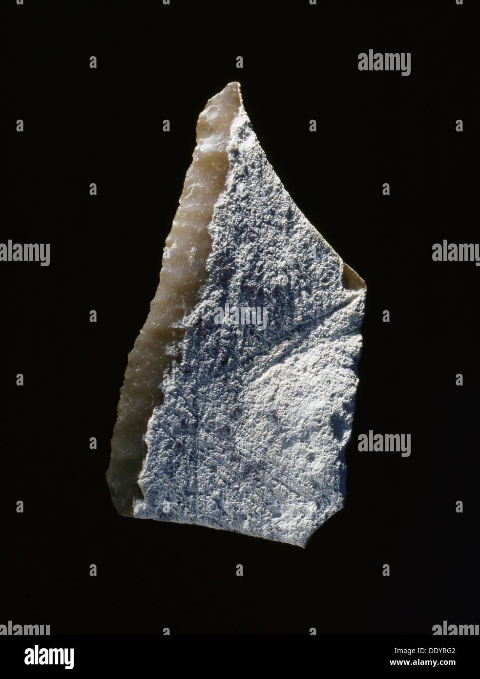 Neolithic stone scraper, from Habshan, Abu Dhabi, United Arab Emirates, c5000 BC.  Artist: Werner Forman - Stock Image