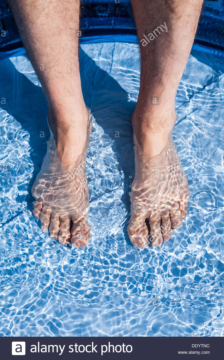 Cooling off in hot summer weather - Stock Image