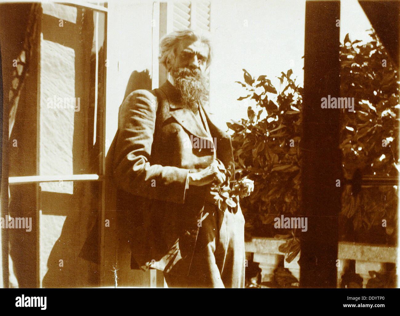Vladimir Solovyov, Russian philosopher, poet, and literary critic, Cannes, France, 1899. - Stock Image
