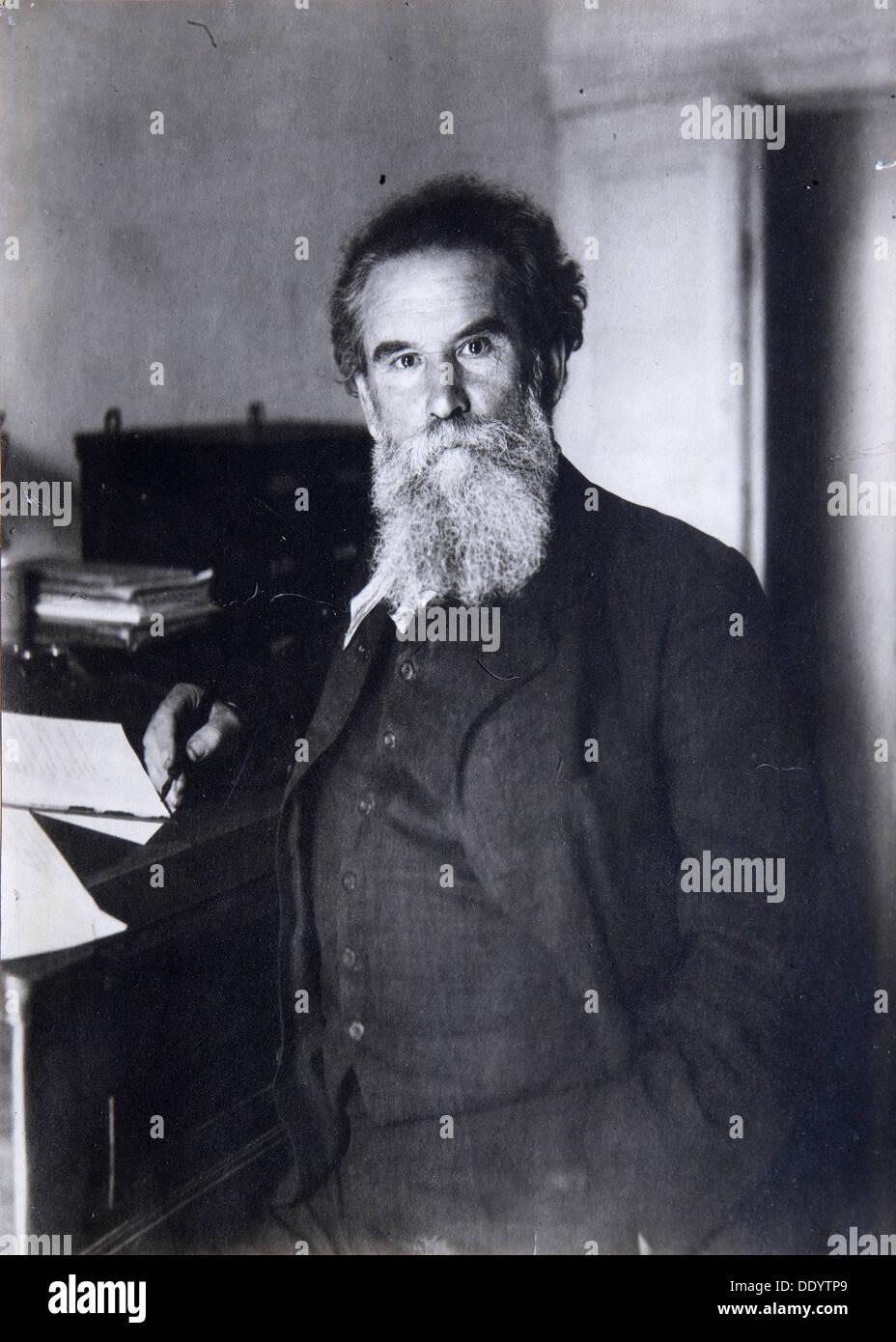 Vladimir Korolenko, Russian author, 1910s. - Stock Image