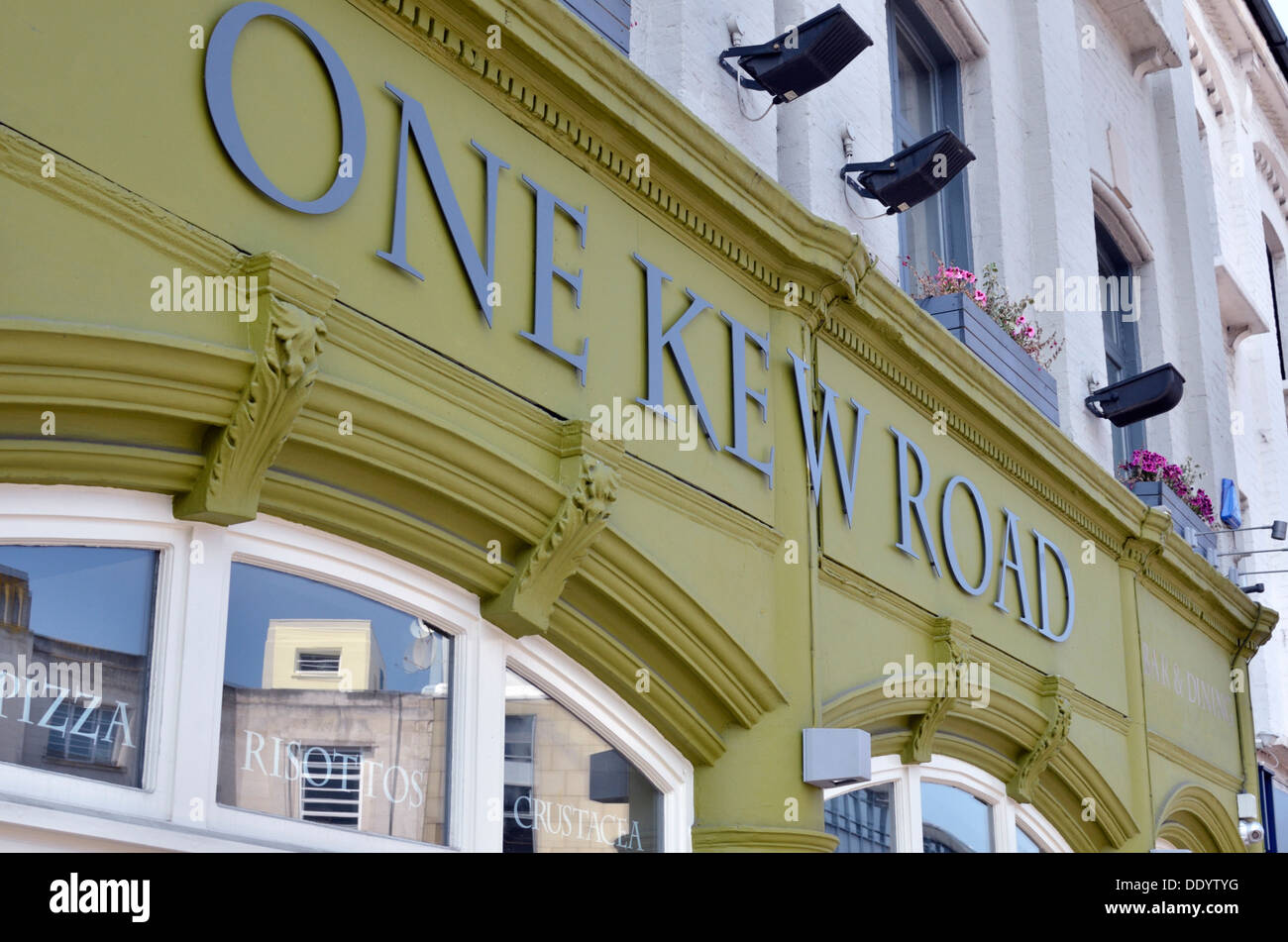 One Kew Road restaurant, Richmond, London, UK. - Stock Image