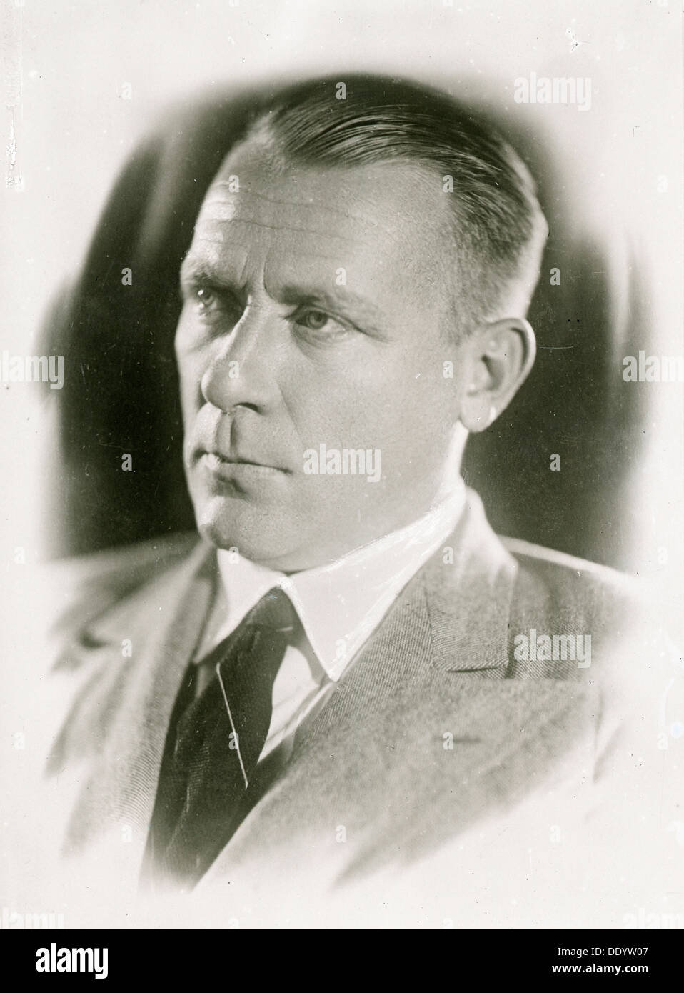 Mikhail Bulgakov, Russian author, 1930s.  Artist: Anon - Stock Image