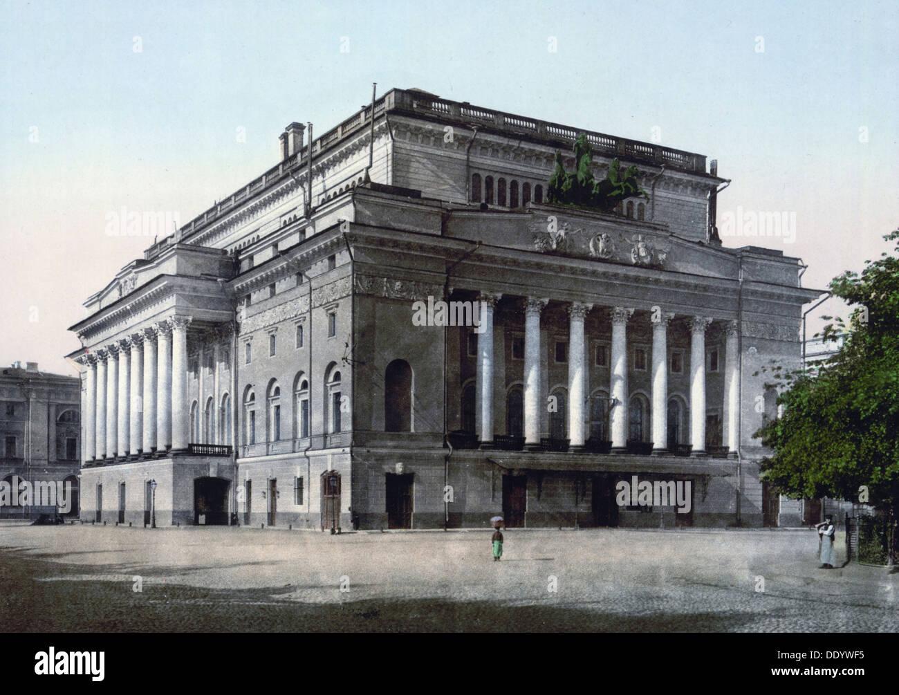 The Alexandrinsky Theatre, St Petersburg, Russia, c1890-c1905. Artist: Anon - Stock Image