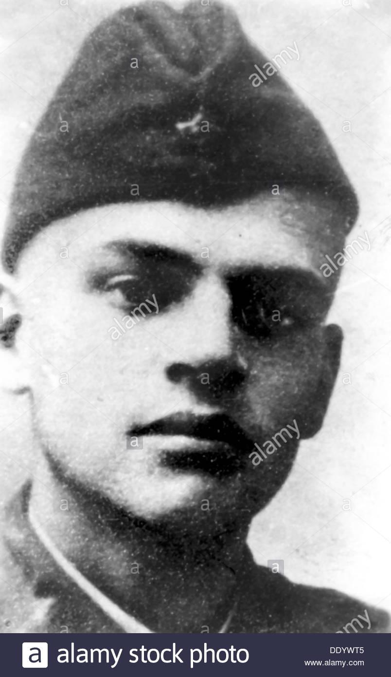 Nicolay Basov, Russian physicist, during World War II, 1941. Artist: Anon - Stock Image