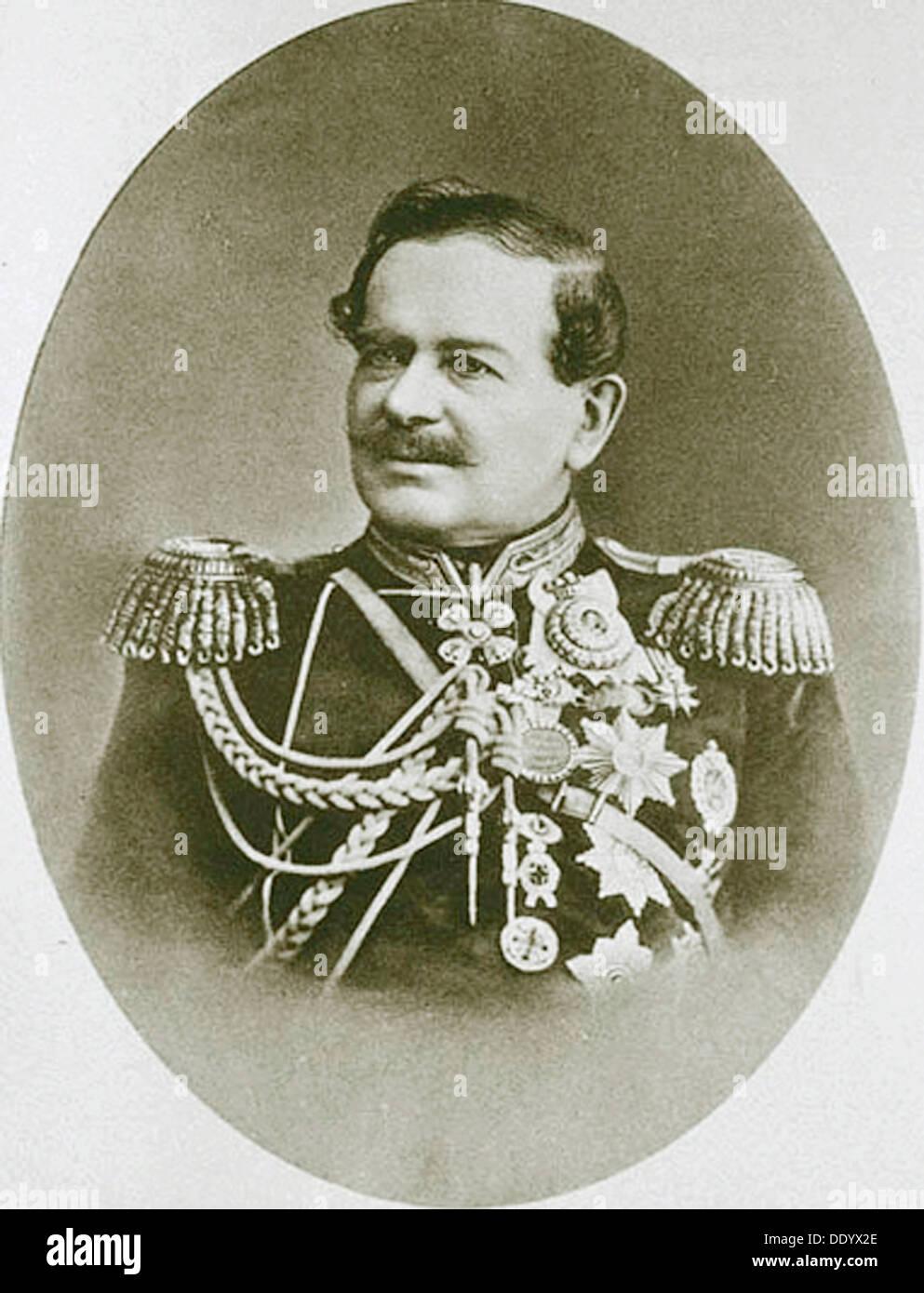 Prince Vladimir Dolgorukov, Mayor of Moscow, 1873. - Stock Image