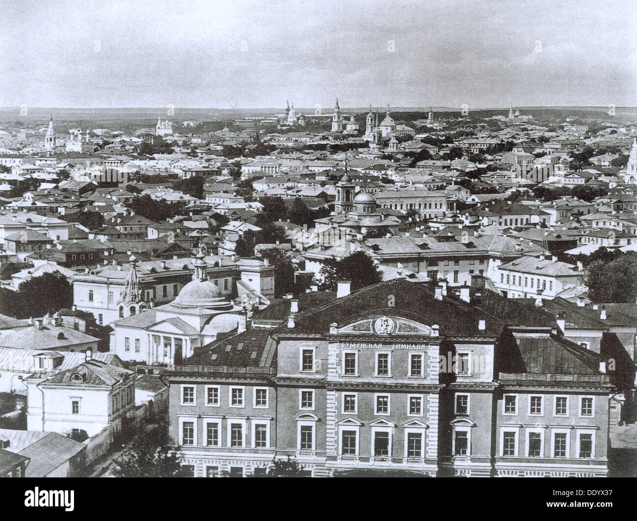 View of Moscow from the Ivan the Great Bell Tower, Russia, 1884. - Stock Image