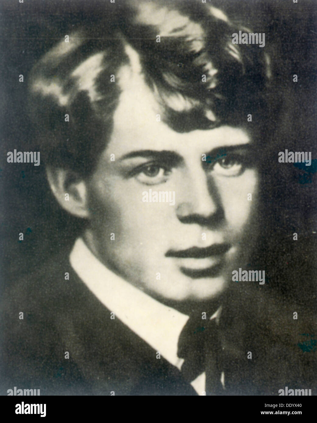Sergei Yesenin, Russian poet, 1910s. - Stock Image