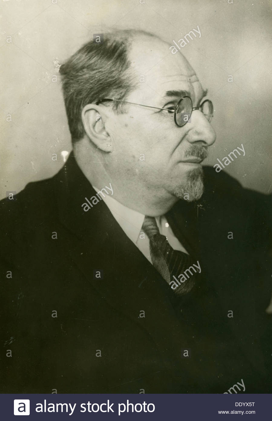 Anatoly Lunacharsky, Soviet politician, early 1930s. - Stock Image