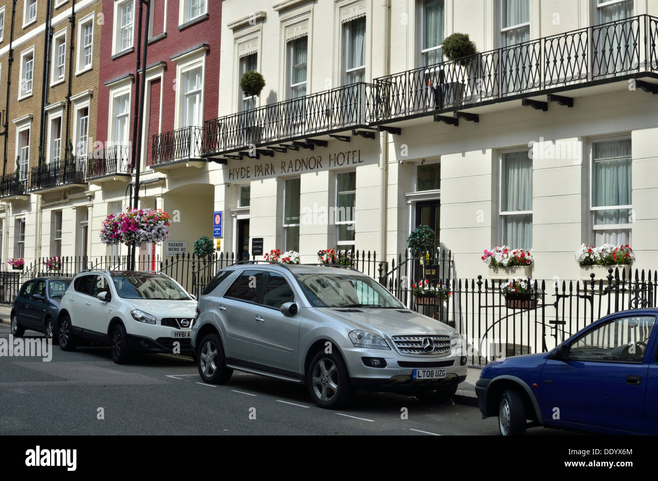 Hyde Park Radnor Hotel in Sussex Place, Bayswater, London, UK. - Stock Image