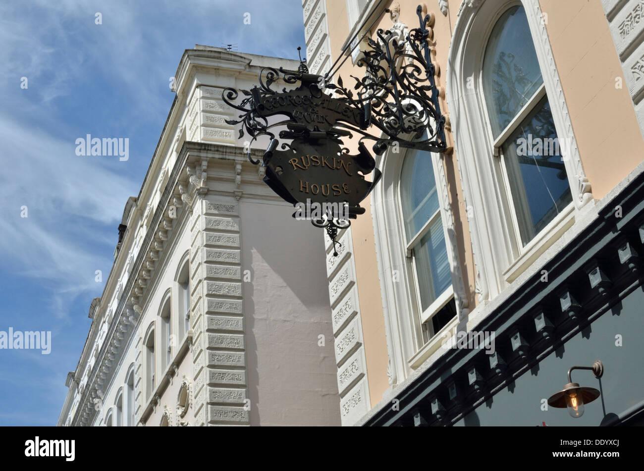 Ruskin House in Museum Street, Bloomsbury, London, UK. - Stock Image