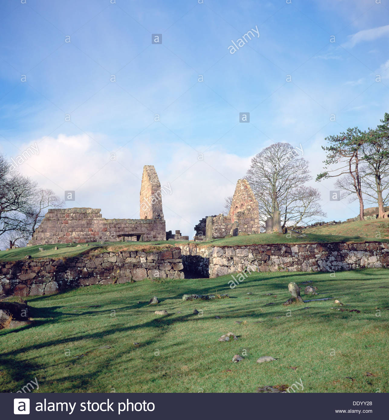 Ruins of St Blane's Chapel, Isle of Bute, Argyll and Bute, Scotland. Artist: David Toase - Stock Image