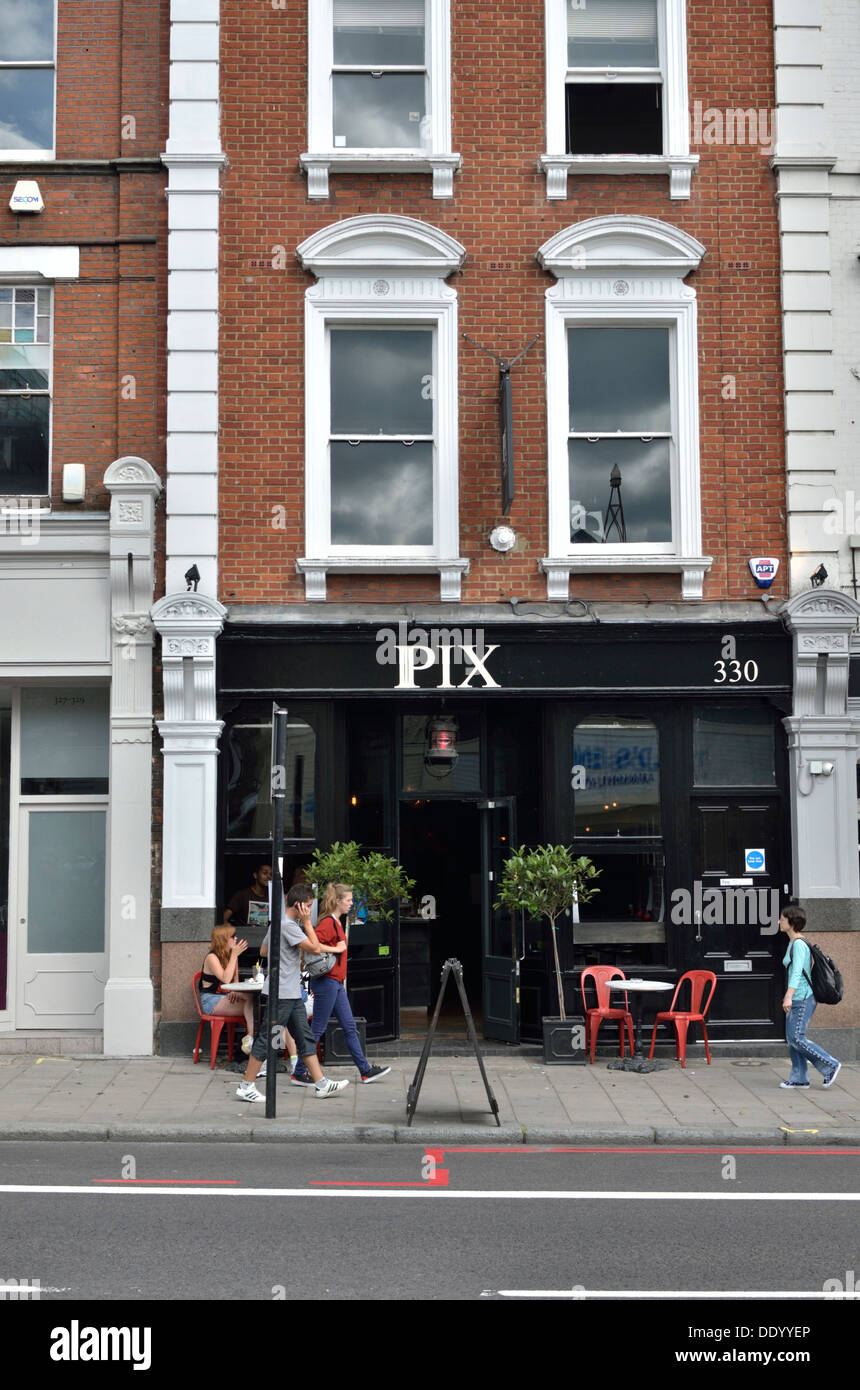 Pix restaurant in Islington, London, UK. - Stock Image