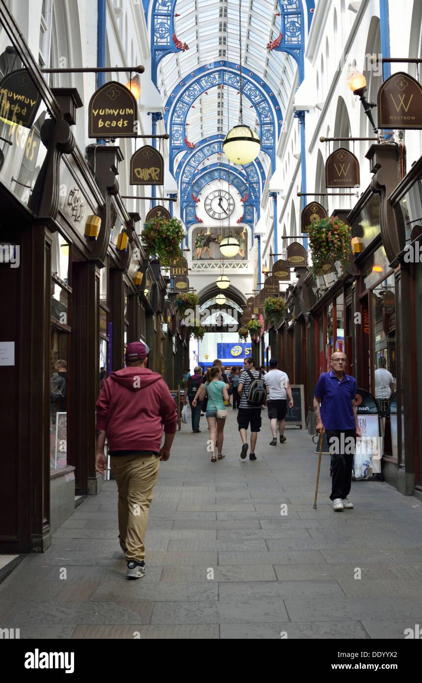 Thornton's Arcade shopping, Leeds, South Yorkshire, UK - Stock Image