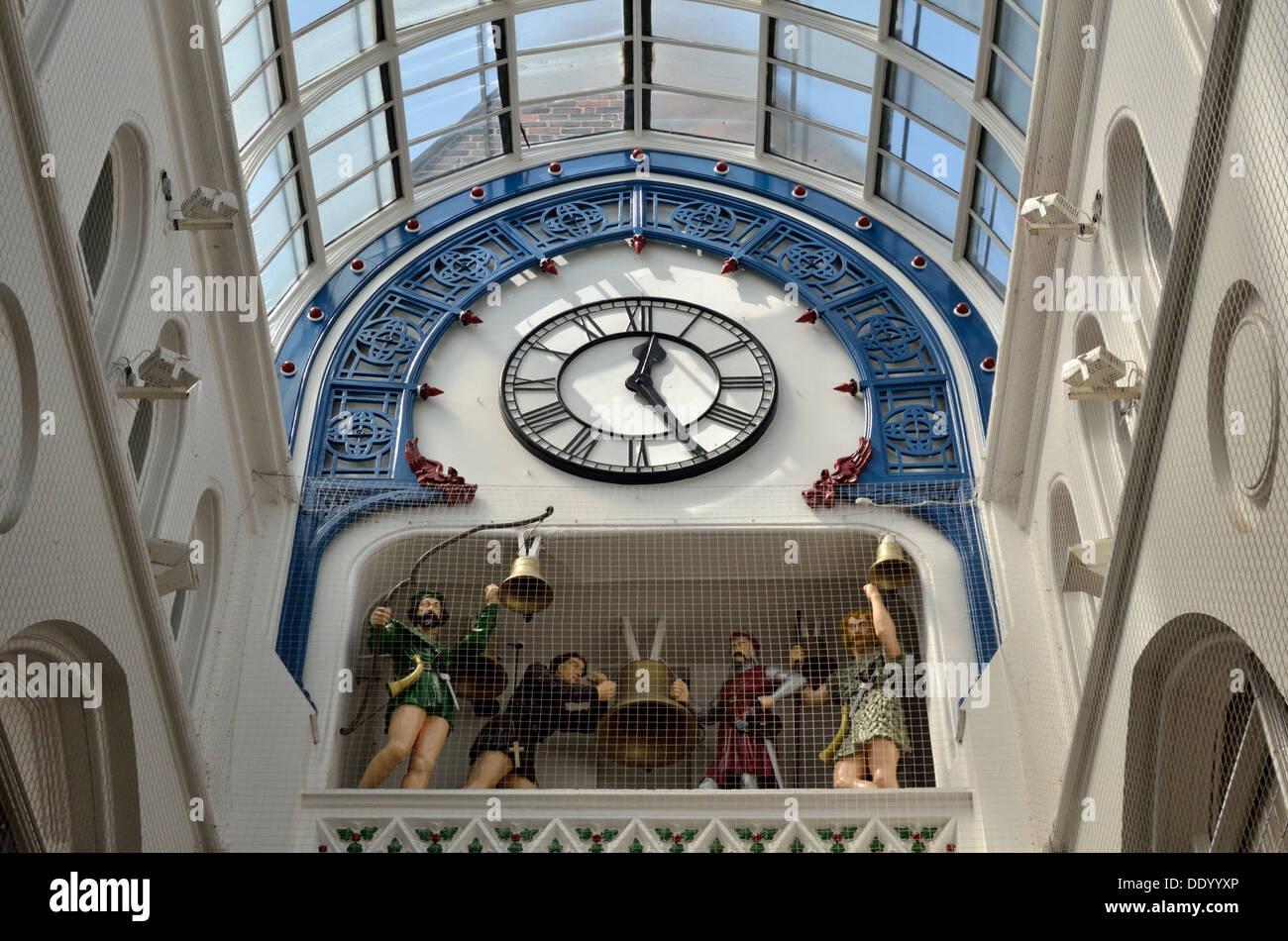 Thornton's Arcade interior detail, Leeds, South Yorkshire, UK - Stock Image