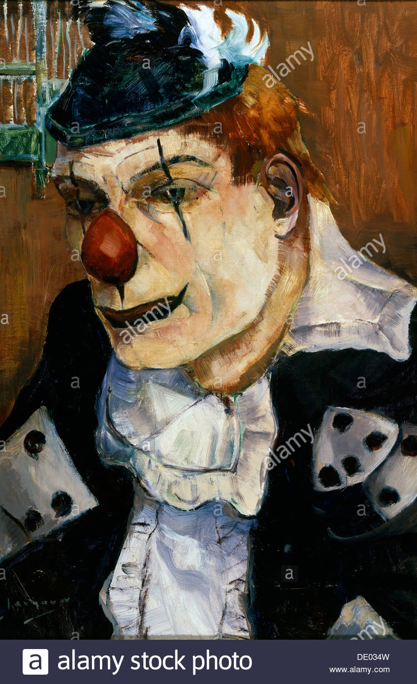 'Clown', 20th century.  Artist: Willy Jacque - Stock Image