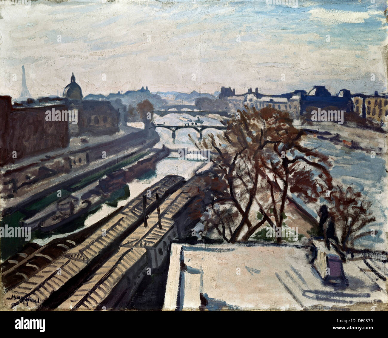 'View of the Seine and the Statue of Henry IV', c1906.  Artist: Albert Marquet - Stock Image
