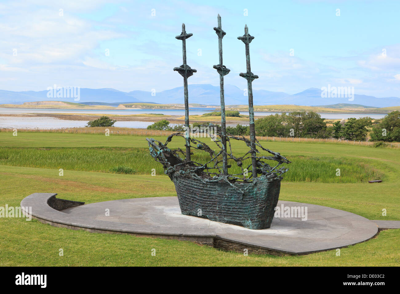 The National Famine Memorial at Murrisk in County Mayo, Ireland Stock Photo