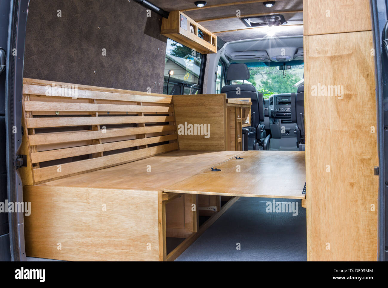 Interior View Of Mercedes Benz Sprinter Cargo Van 2500