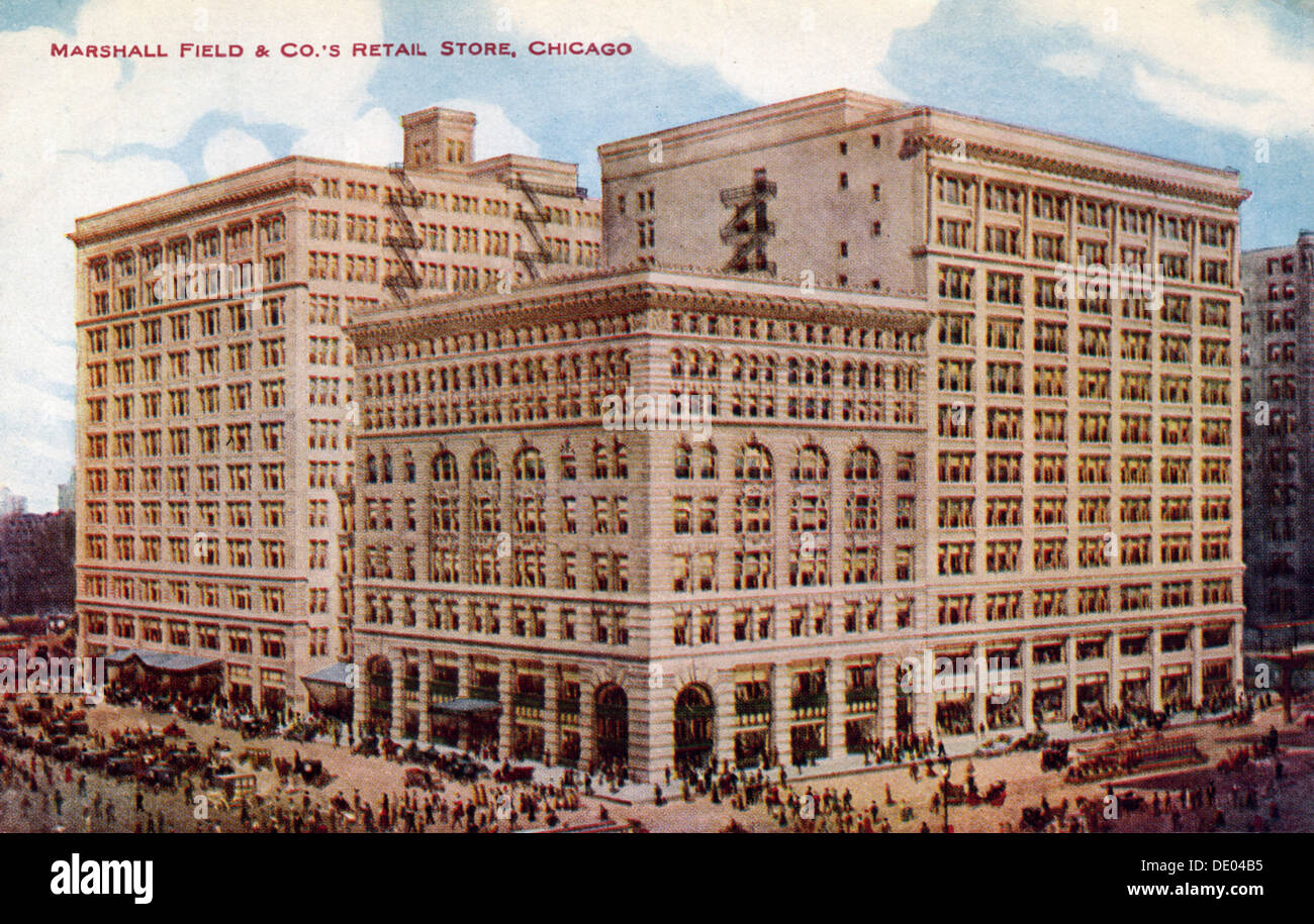 Marshall Field & Co's Retail Store, Chicago, Illinois, USA, 1915. - Stock Image